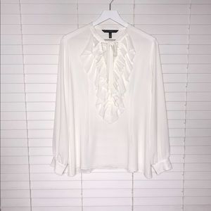 WHBM Ruffle Front Blouse
